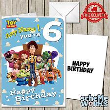 Toy Story Personalised Birthday Greeting Card Children Disney Buzz Woody CA237