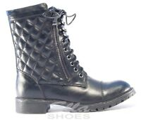 Ella Jackson Vegan Ladies Combat Motorbike Black Ankle Boots Zip Closure Biker