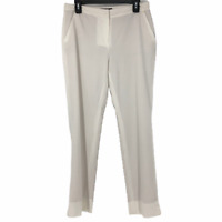 Dana Buchman Womens Cream Fully Lined High Rise Dress Pants Size 6