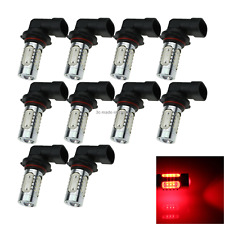 10x Red AUTO H10 Signal Lamp Exterior Light 5 Emitters COB SMD LED 9155 H501