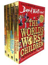David Walliams World's Worst Children 4 Books Collection Set Paperback NEW
