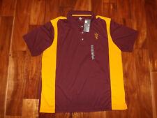 NWT Mens Knights Apparel Arizona State Burgundy Short Sleeve Polo Shirt M Medium