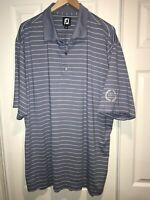 FootJoy Mens Golf Polo Shirt Size XL Short Sleeve blue striped C42