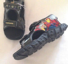 Sandals Iron Man Spiderman boys size 10M EUR 27.5 man made materials lights new