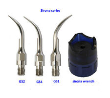 Sirona Scaling Tip GS1+GS2+GS4 + wrench Dental Scaler Tips Fit Sirona Handpiece