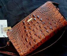 BRAHMIN Sienna Melbourne Leather Crossbody Bag Pecan Brown NWT Free Ship!