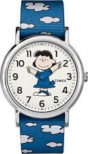 Timex Unisex Weekender Peanuts Silver Tone Brass Watch TW2R41300