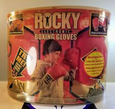 ROCKY ELECTRONIC BOXING GLOVES 2006 JAKKS PACIFIC NEW RARE