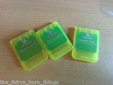 Oficial De Sony Playstation Ps1 Tarjeta De Memoria Luz Amarillo Psone Buen Estado