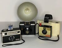 Vintage CAMERA LOT Imperial Instant Load 900, ANSCO Readyflash, Polaroid Swinger