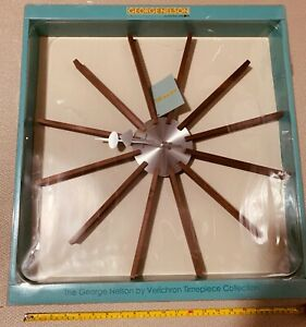 MCM George Nelson Star Flutter Clock Verichron Authentic Authorized Dealer