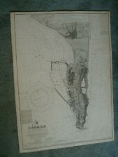Vintage Admiralty Chart 144 GIBRALTAR 1922 edn