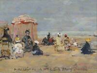 EUGENE BOUDIN FRENCH ON THE BEACH OLD ART PAINTING POSTER PRINT BB5299B