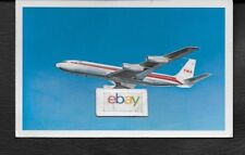 TWA TRANS WORLD BOEING 707 STARSTREAM DYNAFAN AIRLINE ISSUE POSTCARD