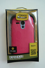 New Otter Box Defender Series Case Motorola Moto G pink grey 1st generation Only
