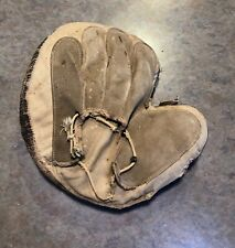 Vintage RARE 1890s Lace-Back/Grommet-Back Baseball Catchers Mitt
