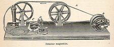 A6826 Detector magnetico - Stampa Antica del 1925 - Xilografia