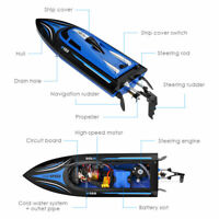 2.4G Radio Control RC Racing Boat Water Cooling Capsize Reset Watercrafts Toy UK