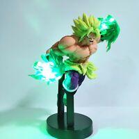 Dragon Ball Z Rare Broly Acion Figure Super Saiyan Led Light Figurine Toy DBZ
