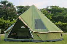 Camping Safari Bell Tent Waterproof Canvas 4M 10 Person