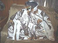 Mens 3X Snow Camo Jacket Insulated Hunting Jacket Snow Parka Waterproof Coat 3X