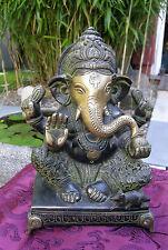 Bellas vieja Ganesha Buda estatua de nepal bronce Knapp 3 kg