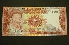 New listing Swaziland One Lilangeni Banknote - 1974 - Crisp Uncirculated