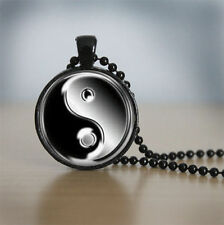 Yin Yang Glass Dome Necklace for men woman Jewelry pendant necklace