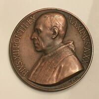 Vatican Pope Pius XII 1958 Dated Bronze Medal Mistruzzi