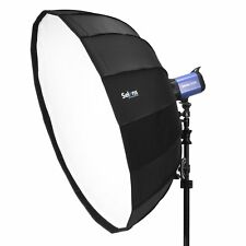 "Selens 85cm 33"" Sliver Collapsible Umbrella Beauty Dish Softbox Off-camera Flash"