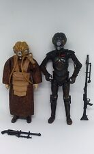 "Star Wars Black Series Bounty Hunters 4-LOM & ZUCKUSS 6"" Figures Lot Loose"