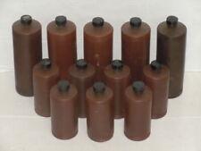 Vintage Lot Of (12) Plastic Brown Darkroom Developing Bottles Used