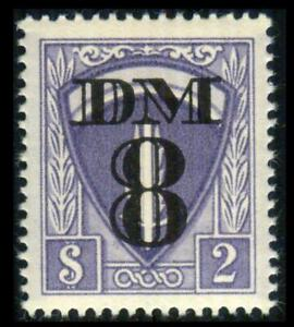 TR23 AMG CONSULAR 8dm MILITARY TRAVEL PERMIT Surcharge MNH SEE PHOTOS J-575