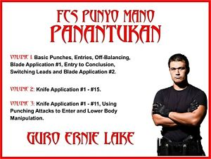 PANANTUKAN (3) DVD SET filipino martial arts dirty boxing street kali jkd knife