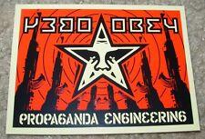 SHEPARD FAIREY Obey Giant Sticker 3 X 4 in wht PROPAGANDA GUNS from poster print