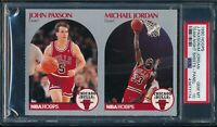 PSA 10 MICHAEL JORDAN 1990-91 Hoops Team Night Sheets Perforated Paxson GEM MINT