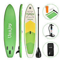 10' Inflatable SUP Stand up Paddle Board Surfboard Adjustable Fin Paddle Green