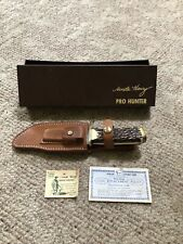 Vintage SCHRADE Uncle Henry Pro Hunter 171UH Fixed Blade Hunting Knife W/Box