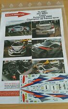 DECALS 1/24 REF 1067 PEUGEOT 307 WRC CUOQ RALLYE TERRE DE L'AUXERROIS 2006 RALLY
