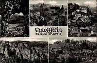 Egloffstein Bayern ~1950/60 Mehrbildkarte Fränkische Schweiz Häuser Berg Felsen