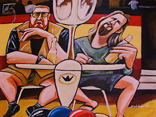 THE BIG LEBOWSKI PRINT poster jeff bridges john goodman bowling beer cigar movie