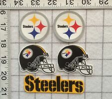 Pittsburgh STEELERS NFL Iron On Fabric Appliques LOGO No Sew  **FREE SHIPPING**
