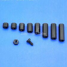 M3 Black Nylon Hex Female-Female Standoff Spacer / Screw / Nut.