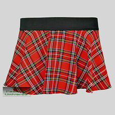Ladies Women Circular Tartan Mini Skirt With Elasticated Waistband-New Colour