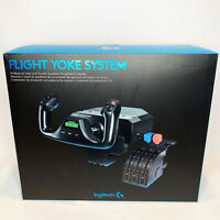 LOGITECH G SAITEK PRO FLIGHT YOKE SYSTEM FOR FLIGHT SIMULATOR NEW
