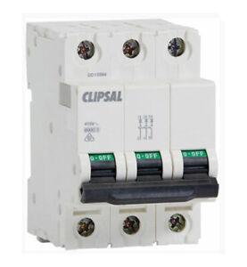CLIPSAL  4CB320/6 3 Pole, 54Mm, 415V, 20A, 6Ka MCB x 48  NEW