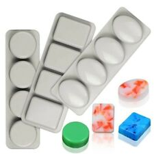 3 Pack DIY 4 Even Grid Silicone Soap Mold for Handmade Soap Making Forms 3d V9m4