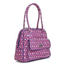 Vera Bradley Katalina Pink DiamondsTurnlock Satchel Bag  handbag nwts s9