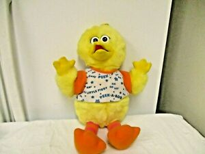 "1996 Tyco Jim Hansen Playtime Big Bird Peek a Boo Talking 16"" Stuffed Animal Toy"