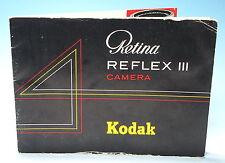 Retina Reflex III Kodak Bedienungsanleitung manual mode d'emploi - (81798)